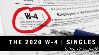 How To Fill Out 2020 W-4 for Singles |  New Job W4