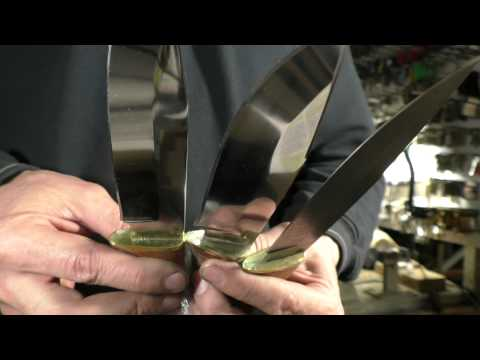 Опыт № 103 нож Гепард стали 95Х18 Х12МФ дамаск мастер Марушин  город Павлово