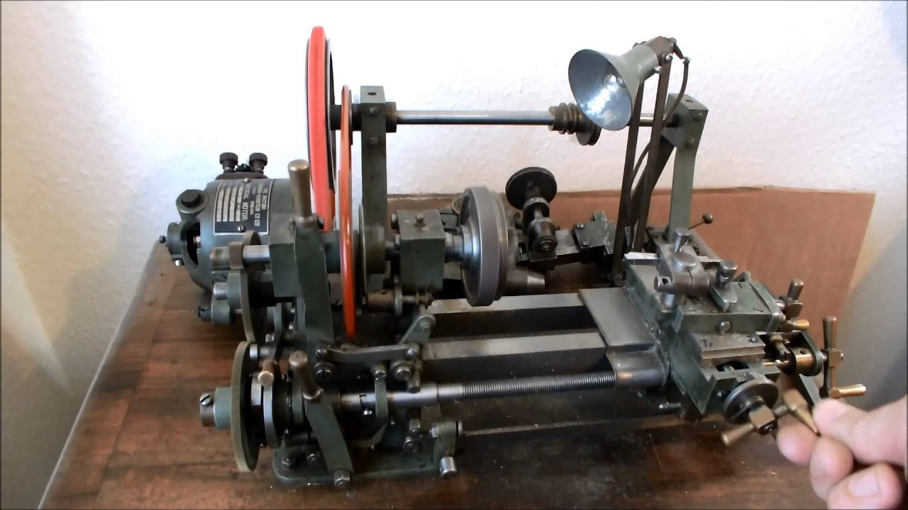 Clockmakers Amp Watchmakers Lathe With Wheel Amp Pinion