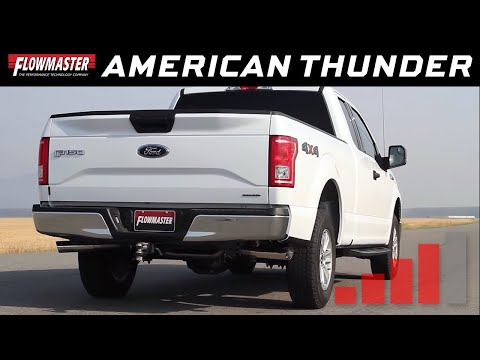 Flowmaster American Thunder Cat-back Exhaust System 2015-2019 Ford F150 3.5L TiVCT - 817725