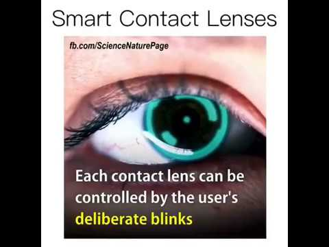 How To Work Smart Contact Lenses By Future Invention