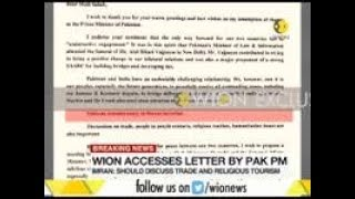 WION accesses letter written by Pak PM to PM Modi