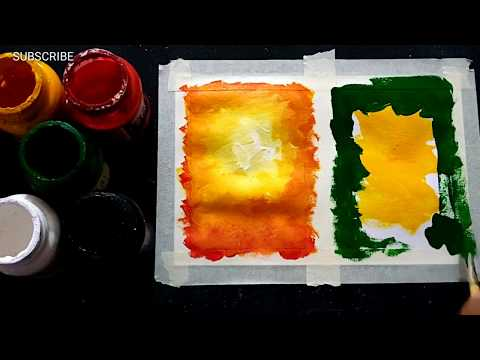 Easy and Simple Poster Colours Painting for Beginners
