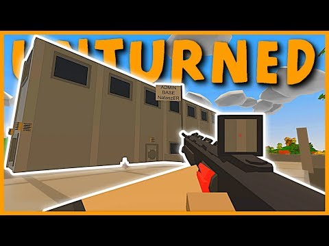 INCREDIBLE ABUSIVE ADMIN BASE RAID! 100+ SENTRIES! SHADOWSTALKER MK2! (Unturned Base Raid)