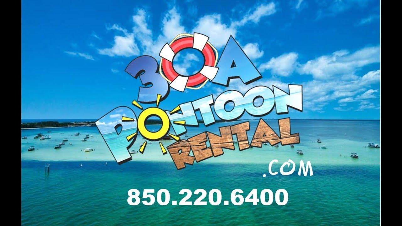 30a Pontoon Rental -Save 3 hours of Driving to Destin / Crab Island