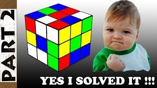 how to solve a 3x3x3 rubik s cube solution step by step for beginners part 2