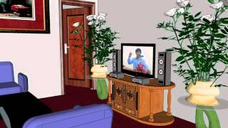 learning SketchUp 2014 -Veray -video- plane