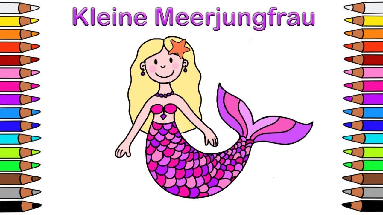 Ausmalbilder Für Kinder Malbuch Für Kinder Malen Für Kinder Ausmalbilder Meerjungfrau