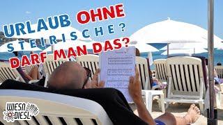 Liedertexte üben statt musizieren im Strandurlaub