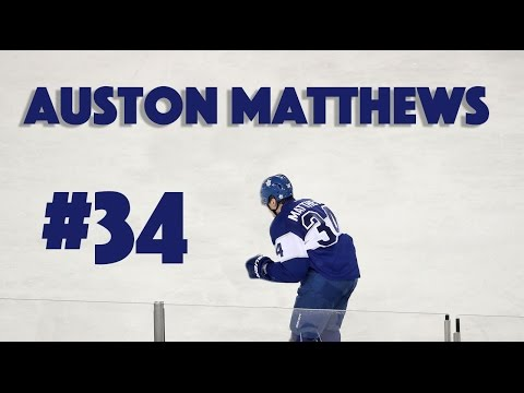 Auston Matthews #34 - NHL Superstar (Toronto Maple Leafs)
