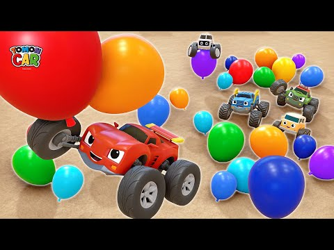 Play A Big Balloon With Tomoncar! 30min Learn Color Nursery Rhyme Kids Songs Tomoncar World