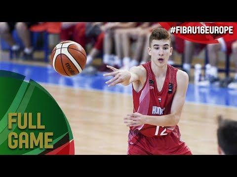 Hungary v Czech Republic - Full Game - Class. 7-8 - FIBA U16 European Championship 2017 - DIV B