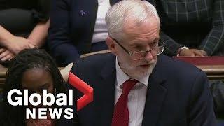 Jeremy Corbyn calls Brexit defeat greatest in UK politics in a century