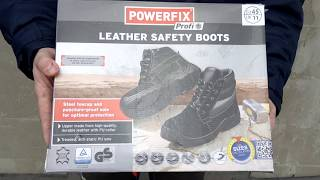 powerfix s3 leather safety boots