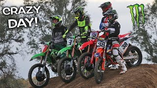 RIDING WITH PROFESSIONAL SUPERCROSS RIDERS AT MY HOUSE!