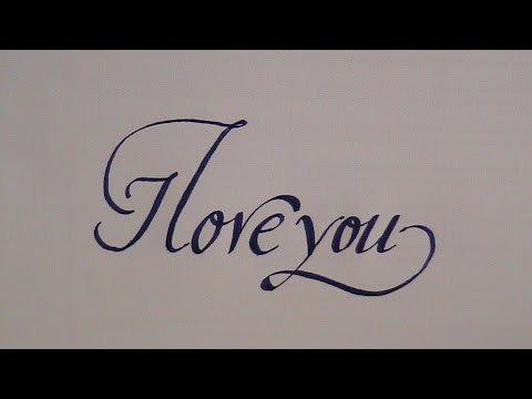 how to write in cursive calligraphy letters i love you for beginners