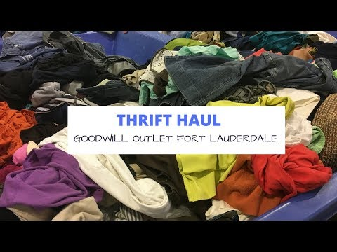 Thrift Haul: Goodwill Outlet Fort Lauderdale