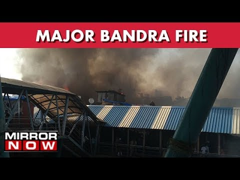 Major Fire Breaks Out In Slum Close To Bandra Station I The News