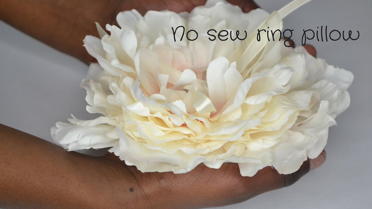 No sew wedding ring pillow Easy DIY wedding accessories tutorial
