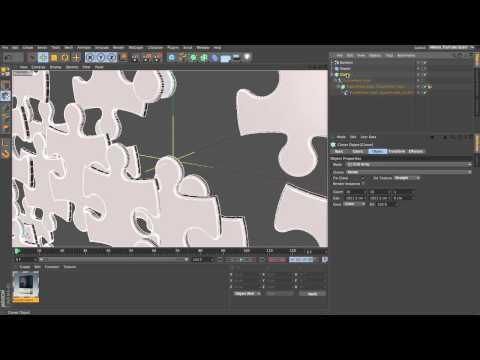 CINEMA 4D MoGraph Jigsaw Puzzle Tutorial - Part 1/4