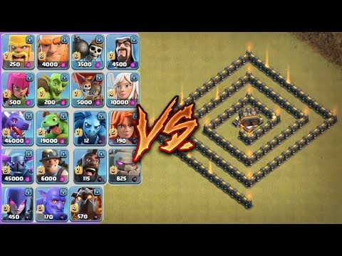 ALL TROOPS VS. GEARED UP CANNON!!! | WHO WILL WIN !?! | CLASH OF CLANS