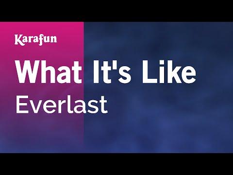 Karaoke What It's Like - Everlast *