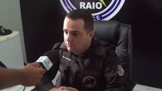 Major Santana faz observações do aumento da criminalidade e da prisão de criminosos.