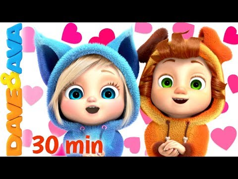 💘   Skidamarink - Happy Valentine's Day! | Dave and Ava Nursery Rhymes and Baby Songs💘