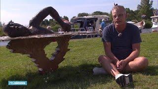 Maarten van der Weijden krijgt eigen standbeeld na Elfstedenzwemtocht