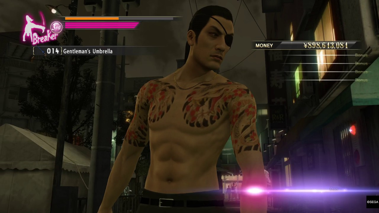 Yakuza 0 PS4 Pro gameplay Goro Majima breaker style street fight