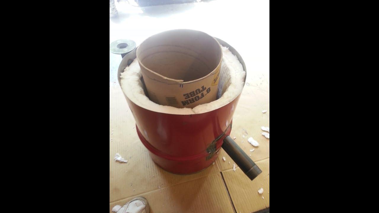 Homemade Propane Foundry Furnace Aluminium Metal Tutorial ...