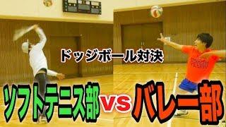 【バレー部VSソフトテニス部】スパイクvsスマッシュの変則ドッジボール!?