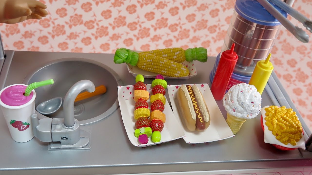 "American Girl ice cream cone from Campus Snack Cart set 18/"" doll NEW"