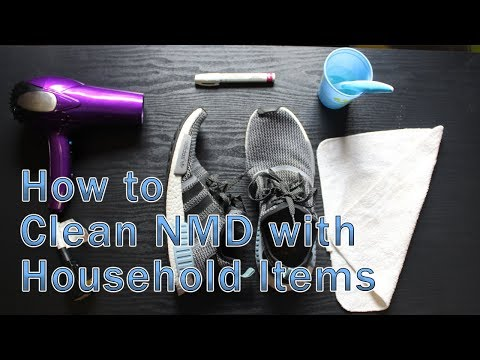 HOW TO CLEAN NMD, ULTRA BOOST, YEEZY WITH HOUSEHOLD ITEMS!! FAST AND EASY 2019