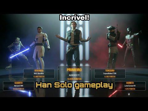 Download Gameplay Star Wars Battlefront 2 | Modo Heróis vs Vilões | Han Solo gameplay