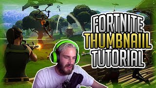 How To Make Fortnite Thumbnails For Free | Photoshop Tutorials 2018 (Not Speed Art)