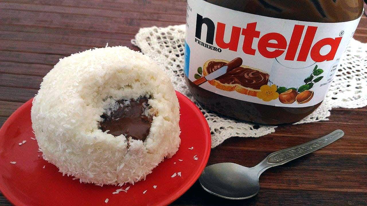 Coconut And Nutella Truffle Tartufo Al Cocco E Nutella Youtube