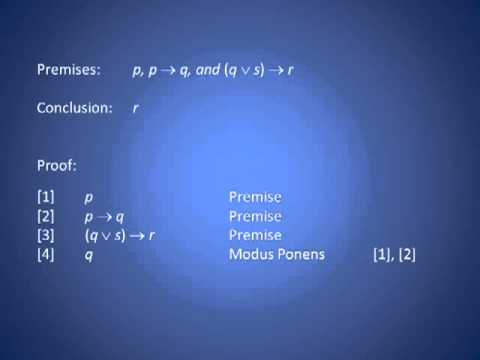 Modus Ponens Proof Example Relaxing Youtube