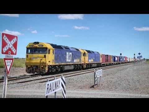 Mildura To Melbourne 7902V Freight Train - PoathTV Australian Railways