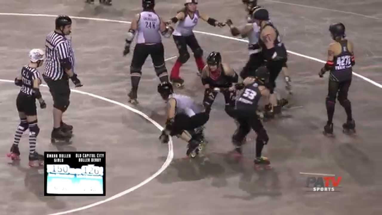 Roller skating omaha - Occrd Vs Omaha Rollergirls 2 7 15