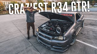 My Reaction TO 700WHP R34 SKYLINE GTR PULLS & TWO STEP in AMERICA