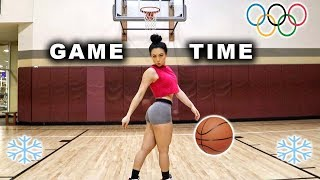 Ash Buckets Plays Basketball | Snow Swimming | New Winter Olympic Sport