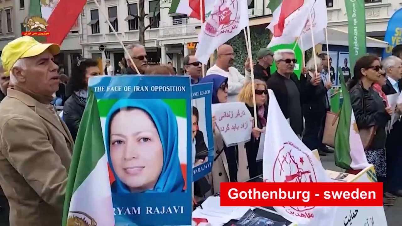 PMOI/MEK supporters rallying against Iran regime's terrorism, unbridled crackdown