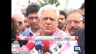 Dunya News-Om Puri, Divya Dutta arrive in Lahore for theater performance