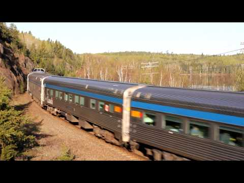 VIA Rail train #2, The Canadian at Sioux Lookout, Ontario