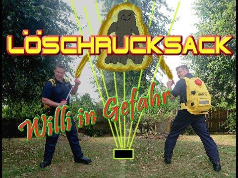 Löschrucksack - Live Test: FeuerwehrWilli in Gefahr