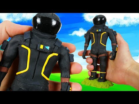 Making Dark Voyager from Fortnite: Battle Royale in Polymer Clay!