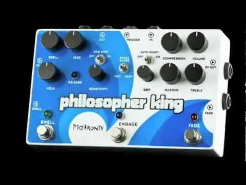 Pigtronix Philosopher King Compressor Sustainer Guitar Pedal - Pigtronix Philosopher King