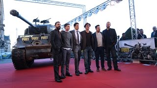 "Director & Cast Of ""Fury"" Honour World War 2 Soldiers In Paris"