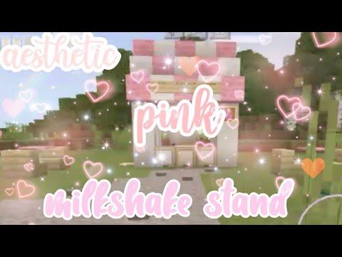 Aesthetic Pink Millkshake Stand Minecraft Speedbuild Alluriix